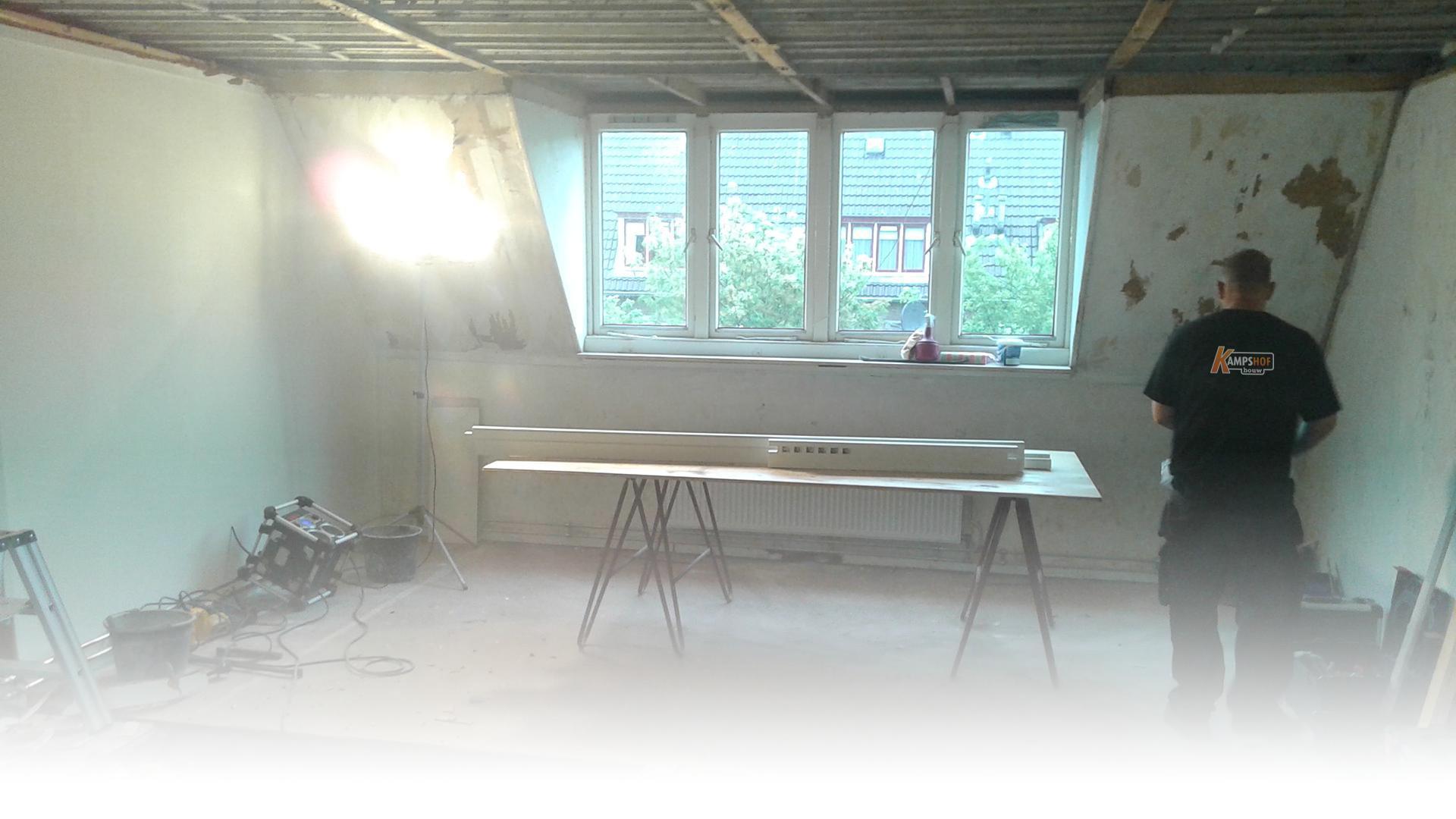 verbouwing bovenverdieping